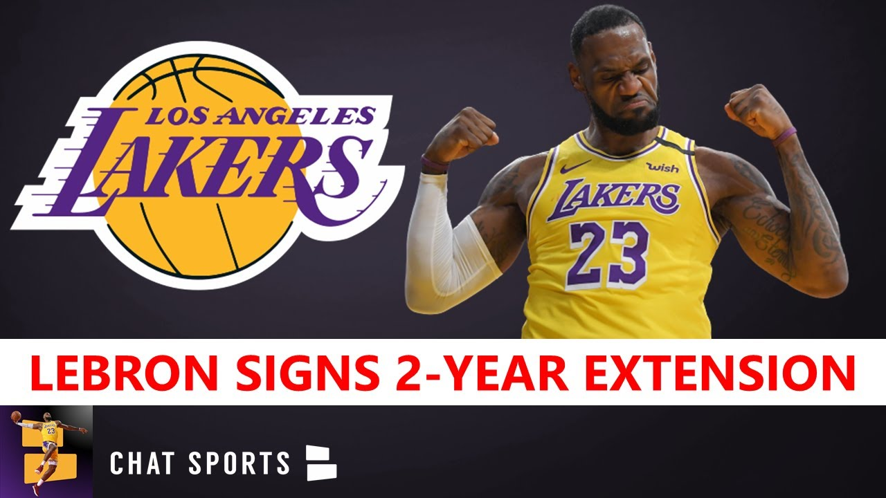Report: LeBron James signs 2-year extension with Los Angeles ...