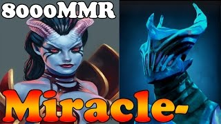 Dota 2 - Miracle- 8000MMR Plays Queen of Pain and Razor - Ranked Match Gameplay
