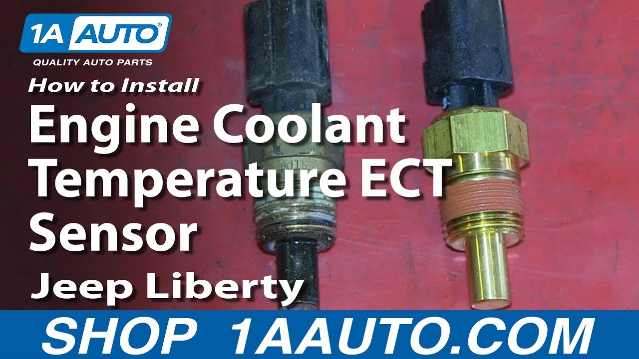 How To Install Replace Engine Coolant Temperature ECT Sensor 200206 Jeep Liberty  YouTube