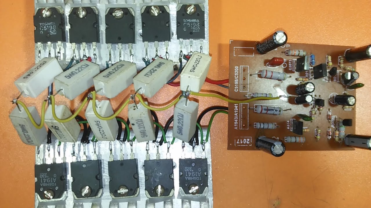 how to add more transistor to amplifier? how to Upgrade Power amplifier  A1941 & C5198? electronics