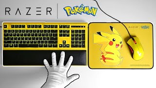 Pikachu Mouse & Keyboard Unboxing - Razer x Pokémon Limited Edition PC Gaming + Earbuds