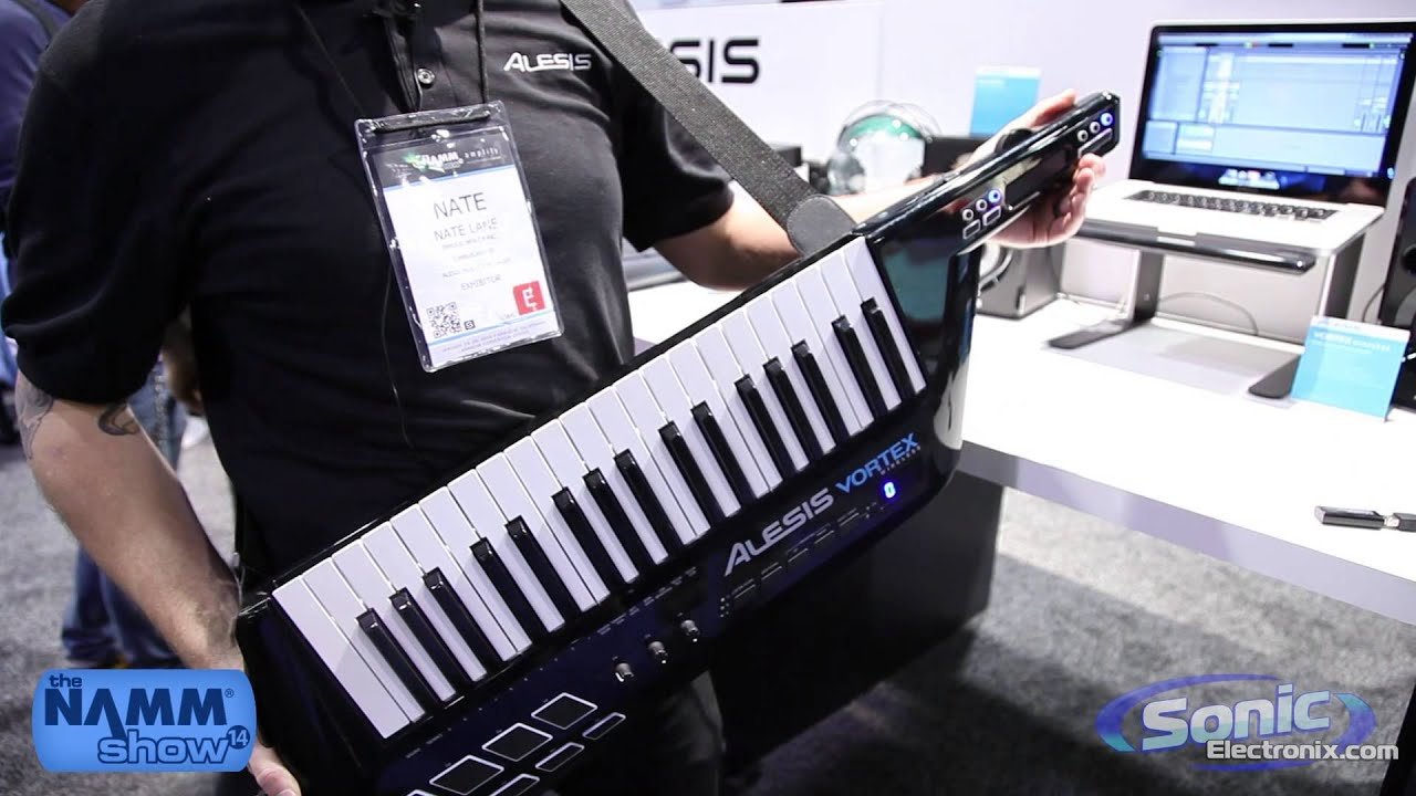 alesis vortex wireless midi keytar controller namm 2014 youtube. Black Bedroom Furniture Sets. Home Design Ideas