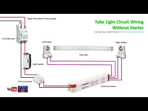 Tube Light Circuit Without Starter  | Electronic Choke | Rig Electrician
