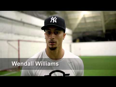 Wendall Williams, NFL hopeful and Syracuse native, works out