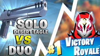 SOLO DESERT EAGLE VS DUO! VITTORIA REALE ⛏️ Fortnite Battle Royale - Pazzox