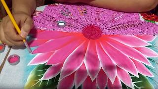 Como pintar meia flor com Lia Ribeiro