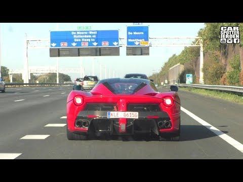 Ferrari Laferrari Autobahn Chase | Powerslide, Startup & Revs