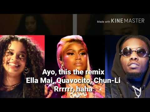 Ella Mai - Boo'd Up Ft. Nicki Minaj And Quavo Remix ( Lyrics)