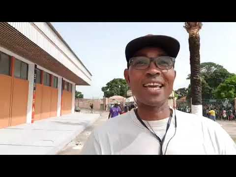 Guiné-Bissau vs Zambia- Ambiente denteo do estadio