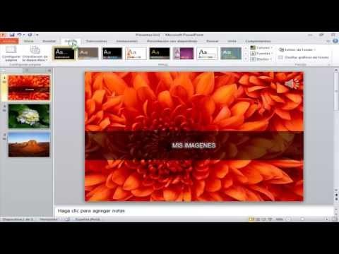 Como hacer vídeos con foto y música en Microsoft PowerPoint 2010 (Loquendo)