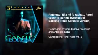 Rigoletto: Ella mi fu rapita... Parmi veder le lagrime (Orchestral Backing Track Karaoke Version)