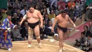 2015九州場所での照ノ富士 vs 栃煌山の取組。先場所の負傷から完治して...