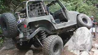 Bender Customs - Colorado 1:1 Trail Ride - Jeep Wranglers Rock Crawling in Carnage Canyon
