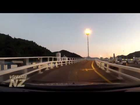 VirtualNZ: Driving onto the ferry Aratere in Picton