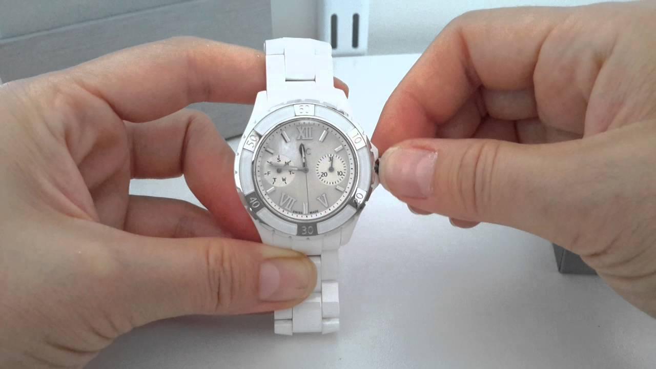 26bb76b56 Gc white ceramic lady watch - YouTube