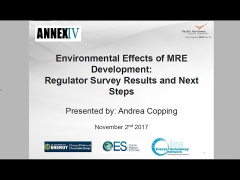 Environmental Effects of MRE Development: Regulator Survey Results and Next Steps