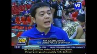 NHA Builders, naitala ang unang panalo sa UNTV Cup