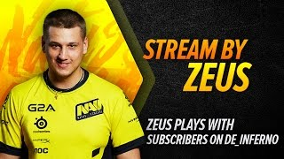 Zeus plays with subscribers on de_inferno (RUS)