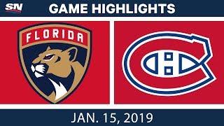 NHL Highlights | Panthers vs. Canadiens - Jan. 15, 2019