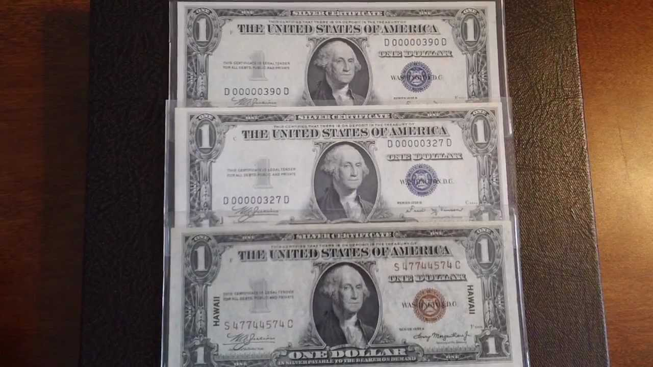Collectible Old Currency Silver Certificates World War