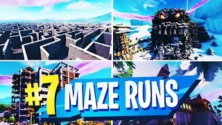 TOP 7 Mejores mapas creativos de MAZE RUNNER en Fortnite (Fortnite Maze Run Map CODES)