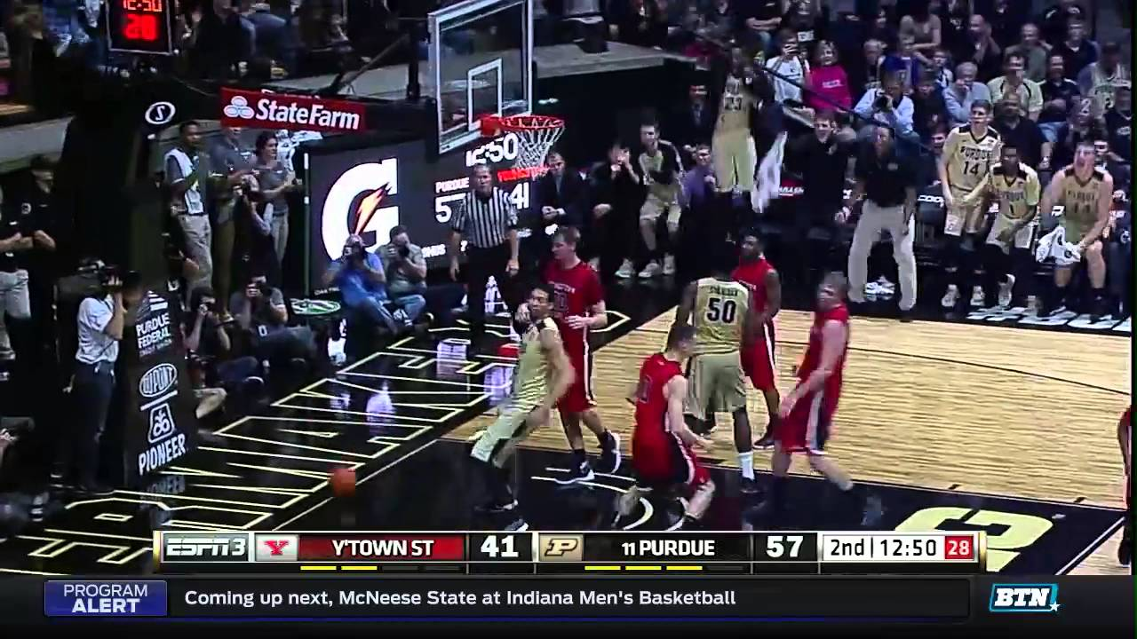 youngstown state at purdue mens basketball highlights