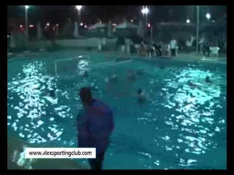 مباراة كرة الماء بين سبورتنج والاهلى تحت 18 سنه ناشئين