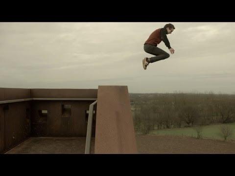 Guy jumps off high construction (ORIGINAL TRAILER)