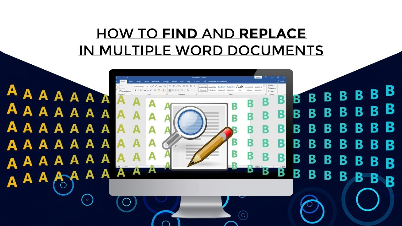 Multiple Search and Replace -Find and replace text in many ...
