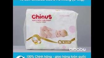 Tã dán Chiaus size S 72 miếng cho bé từ 3- 6 kg - Bibabo