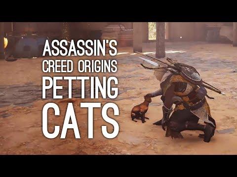 Assassin's Creed Origins Gameplay: PETTING CATS! (Let's Play Assassin's Creed Origins)