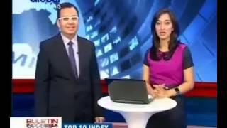 Isabella Fawzi Putri Marissa Haque  & Ikang Fawzi dlm Berita Indonesia Siang, Global TV 7 Jan 2013