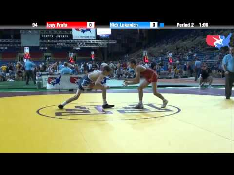 Fargo 2012 94 Round 4: Joey Prata (Virginia) vs. Nick Lukanich (Illinois)