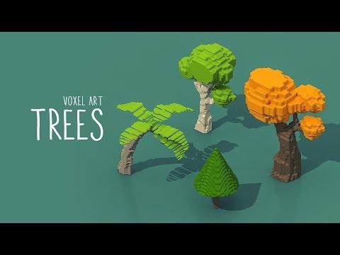 Voxel trees - MagicaVoxel