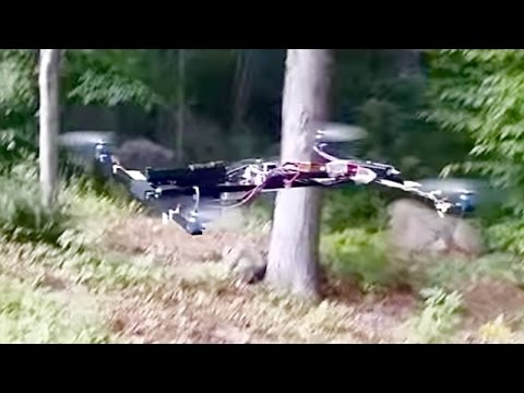 Flying Gun Mounted On Drone In Video