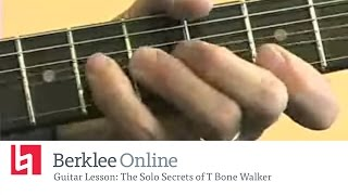Berklee Online Guitar Lesson: The Solo Secrets of T Bone Walker
