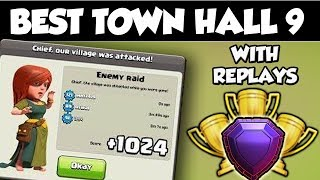 INSANE Town Hall 9 (TH9) TROPHY Base 2018!! With Replays | New Best CoC Th9 Troll/Trophy Base