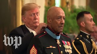 Trump awards Medal of Honor to Vietnam War veteran