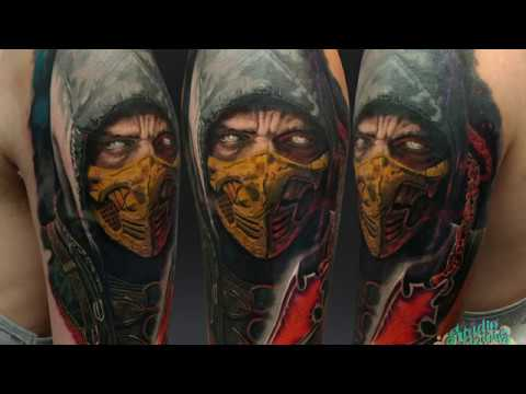 Realistic Tattoo Mortal Kombat Studio Dereniowa 2018 Youtube
