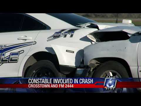 Constable vehicle rear-ended