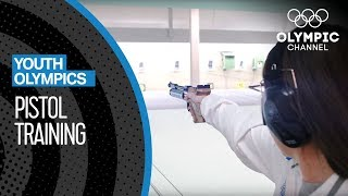 Focused on the target: Pistol-Training for a medal at #YOG2018 | Youth Olympic Games