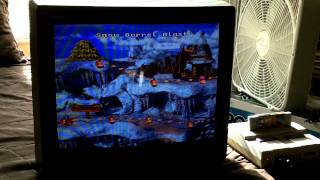 Playing Donkey Kong Country on the Original SNES Console