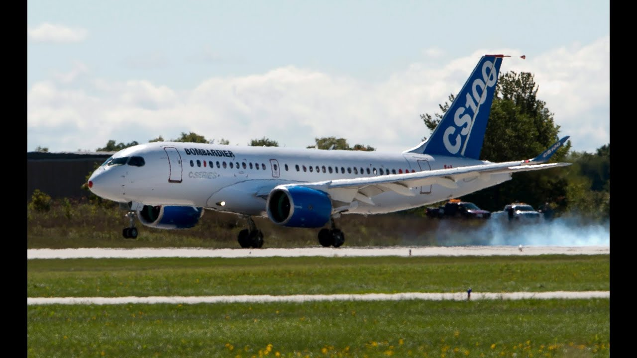 Bombardier Cs100 Maiden Flight In Montreal Youtube