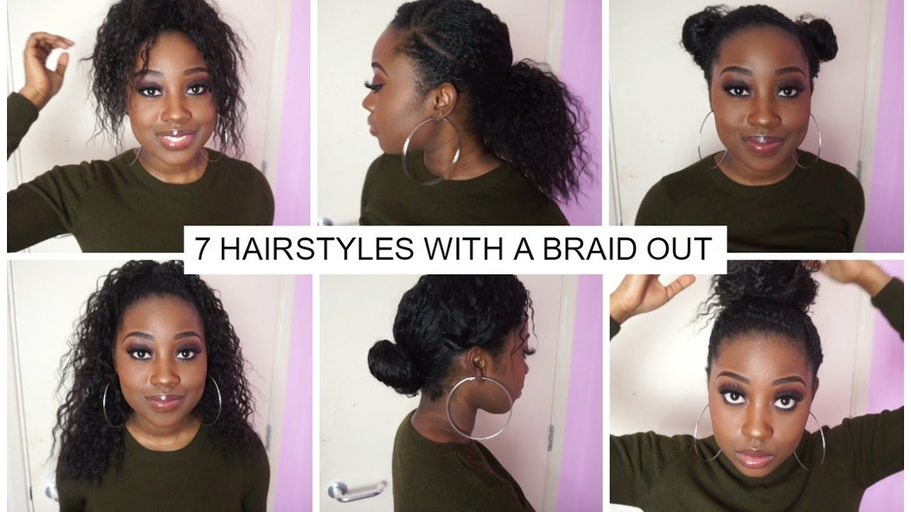 7 Hairstyles you can do with a Braid Out - YouTube