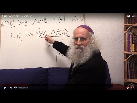 Ariel Cohen Alloro - The Conversion to Judaism in the Light of The Exodus Story - Part 1