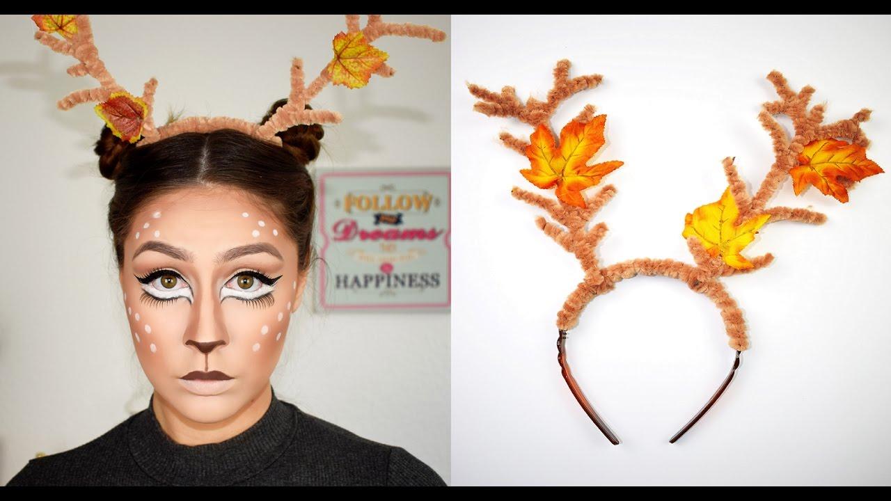 diy deer antlers headband halloween dress up youtube