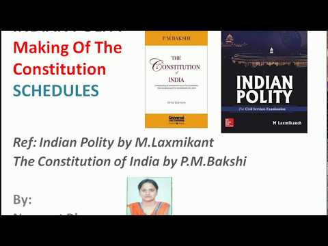 CONSTITUTION OF INDIA, SCHEDULES, CONSTITUENT ASSEMBLY, INDIAN POLITY, INDIAN CONSTITUTION, UPSC,PSC
