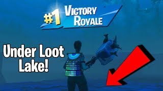 How To Get Under Loot Lake In Fortnite Saison 7 (Under Map Glitch)