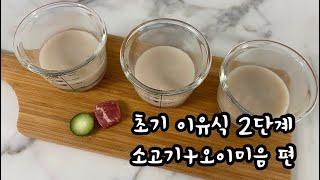 [초기 이유식 2단계] 소고기와 오이 그리고 쌀가루로 …