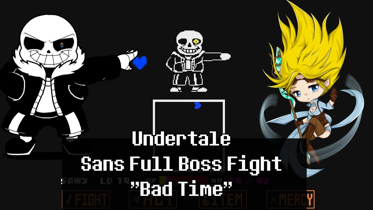 Spoilers!) Undertale - Sans Full Boss Fight ''Bad Time'' - YouTube
